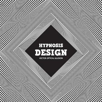 Illusione ottica astratta. sfondo bianco e nero di strisce ondulate