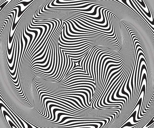 Illusione ottica astratta. sfondo spirale contorto