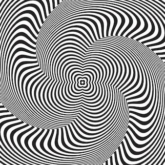 Illusione ottica, astratto sfondo contorto