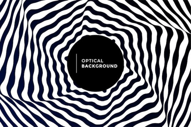Illusione ottica sfondo vettoriale