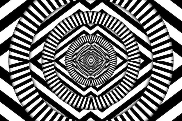 Illusione psichedelica sullo sfondo