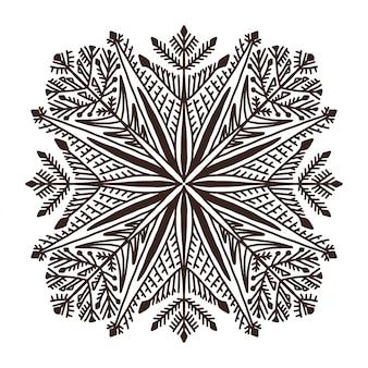 Illusration di natale del fiocco di neve
