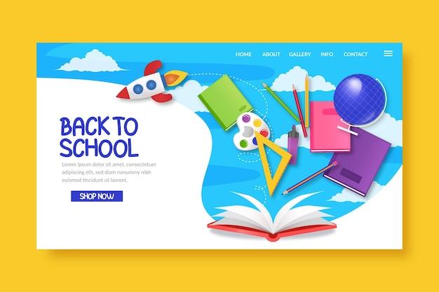 Illustrato alla pagina di destinazione della scuola