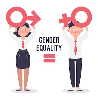 Illustrato concetto di uguaglianza di genere