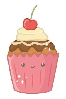 Illustratore del fumetto del dessert del bigné