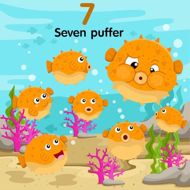 Illustratore del puffer numero sette