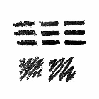 Illustratore del set di pennelli di vettore del gesso