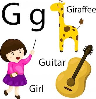 Illustratore di alfabeto g.