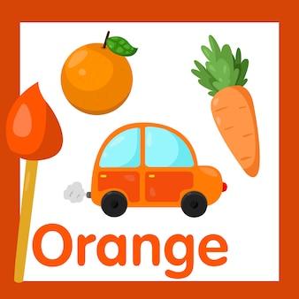 Illustratore di colore arancione