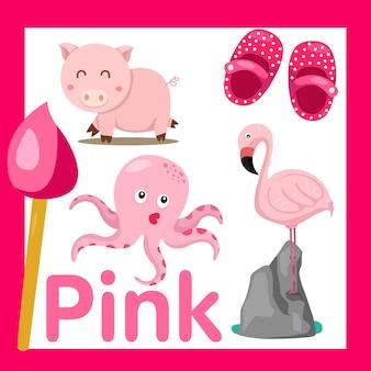 Illustratore di colore rosa
