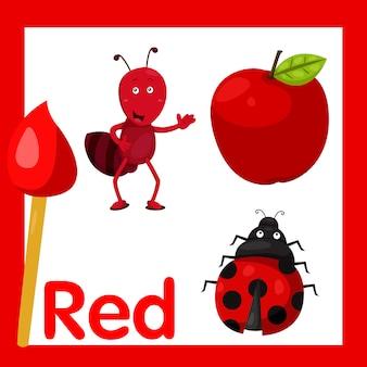 Illustratore di colore rosso