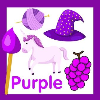 Illustratore di colore viola