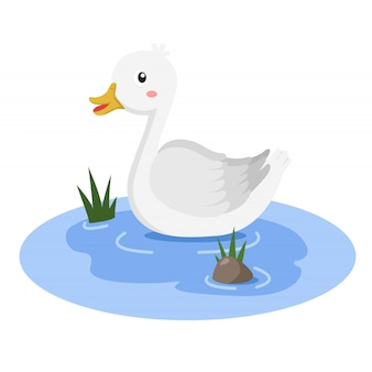 Illustratore di duck in the tub