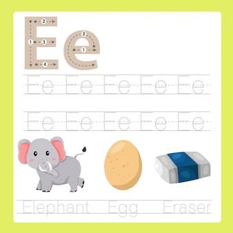 Illustratore di e esercita il vocabolario dei cartoni animati az