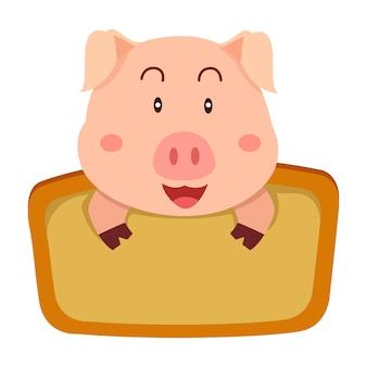 Illustratore di etichette di maiale