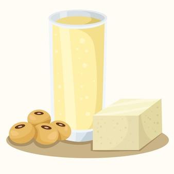 Illustratore di fagioli di soia