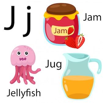 Illustratore di j alfabeto
