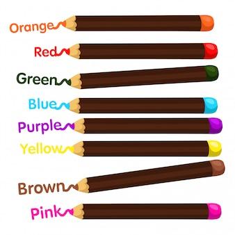 Illustratore di matite colorate