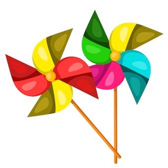 Illustratore di mulino a vento