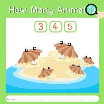 Illustratore di quanti animali dieci
