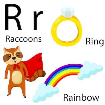 Illustratore di r alfabeto