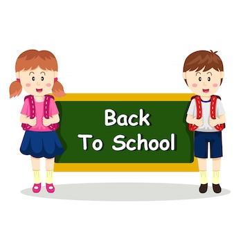 Illustratore di ritorno a scuola