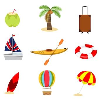 Illustratore di set di elementi estivi