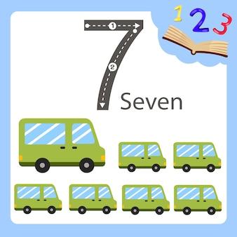 Illustratore di sette numeri van