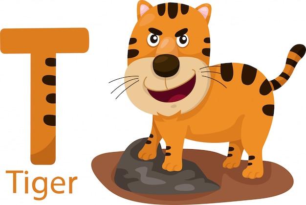 Illustratore di t con la tigre