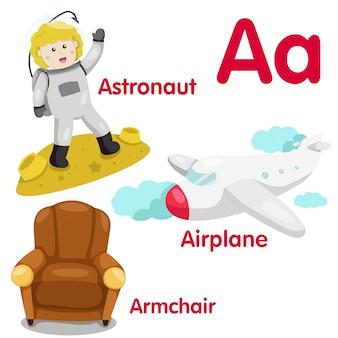 Illustratore di un alfabeto