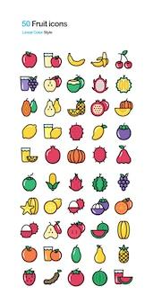 Illustrazione a colori di frutta