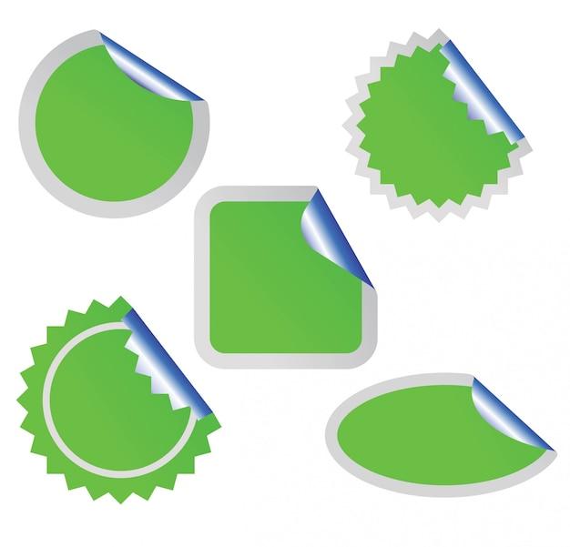 Illustrazione adesivo bianco