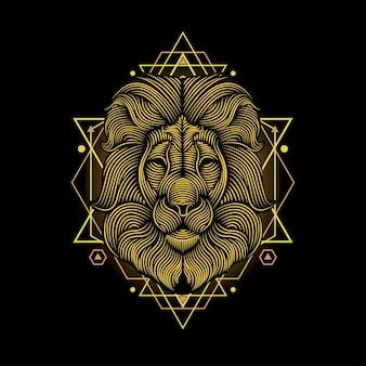 Illustrazione al tratto di leone