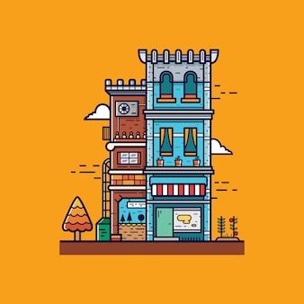 Illustrazione appartamento piatto