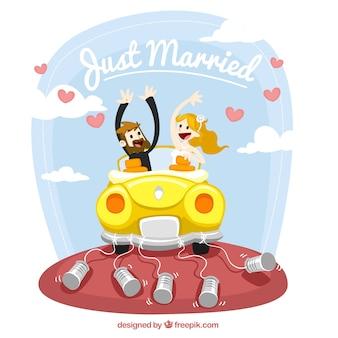 Illustrazione appena sposati