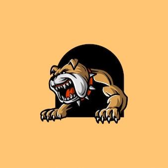 Illustrazione arrabbiata del bulldog
