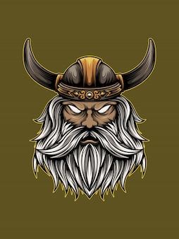 Illustrazione arrabbiata di viking