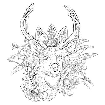 Illustrazione astratta dei cervi