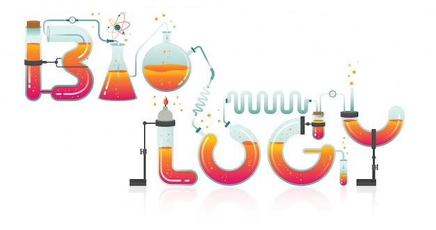 Illustrazione astratta della parola di biologia