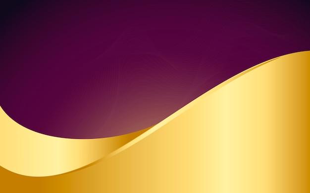 Illustrazione astratta della priorità bassa dell'onda dell'oro