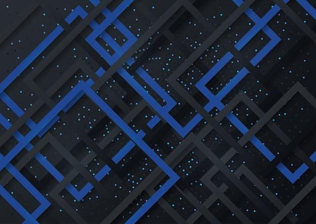 Illustrazione astratta di vettore di arte della carta blu