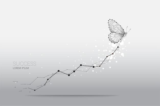 Illustrazione astratta di vettore di movimento della farfalla