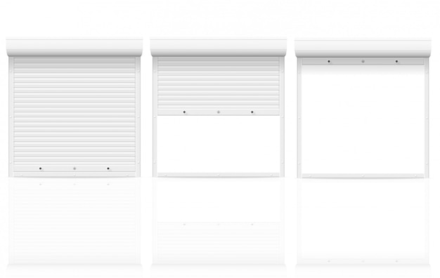 Illustrazione bianca di vettore delle saracinesche