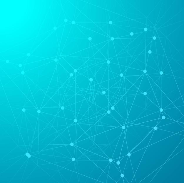 Illustrazione blu astratta di progettazione del fondo di tecnologia
