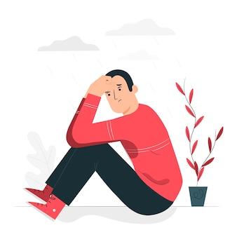 Illustrazione blu di concetto di sensibilità