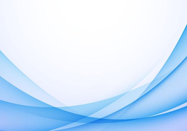 Illustrazione blu morbida di vettore del fondo dell'onda