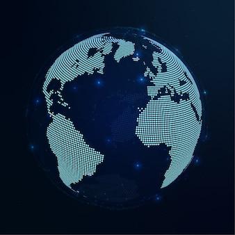 Illustrazione blu scuro del fondo del mondo
