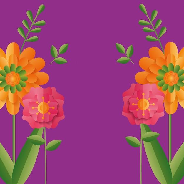 Illustrazione carino con fiori