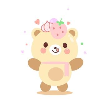Illustrazione carino orsacchiotto