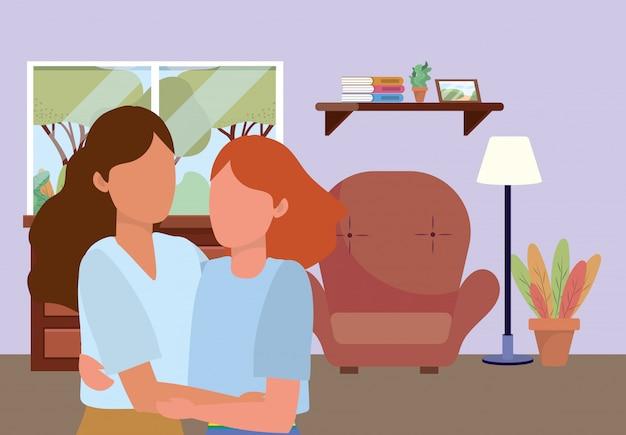 Illustrazione casuale del fumetto della gente felice
